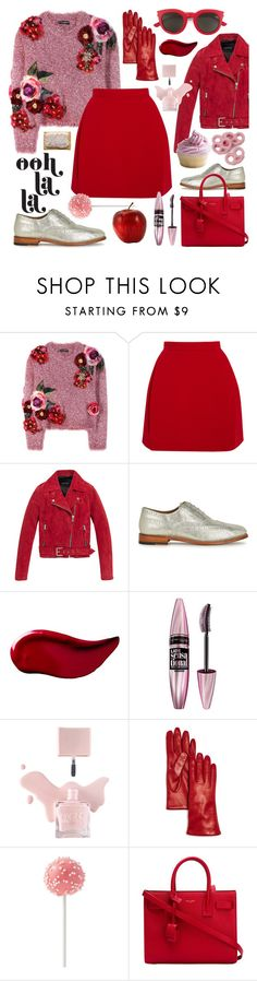 """Sweet temptation"" by sophier ❤ liked on Polyvore featuring Dolce&Gabbana, Delpozo, Andrew Marc, Grenson, Kat Von D, Maybelline, Bloomingdale's and Yves Saint Laurent"