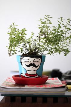 plant pot - love this idea
