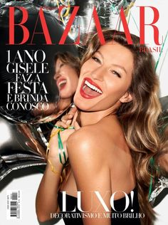 Such a fun cover image of Gisele Bundchen for the November 2012 issue of Harper's Bazaar Brazil. Shot by Terry Richardson.