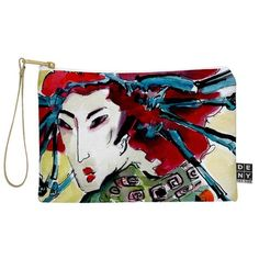 Ginette Fine Art #Japanese #Woman @DENYDesigns Home Accessories Woman Pouch | DENY Designs Home Accessories