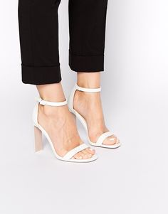 not sure about the square toe, but like minimalist look ASOS HAMPTON Heeled Sandals