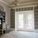 Creating your own built in bookshelves... whole tutorial!