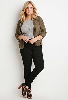 Plus Size Skinny Jeans (Regular) | Forever 21 PLUS - 2000056807