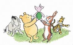 Winnie P. & the gang. I love these old illustrations best.