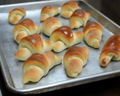 Homemade Butterhorns (aka Thanksgiving Crescent Rolls), my Iowa grandmother's recipe. One of Kitchen Parade's Best Recipes of 2013