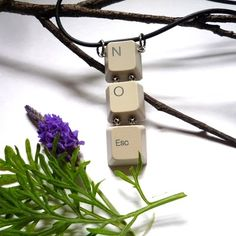 """""""Make a Statement"""" jewelry - upcycled from salvaged computer keyboards."""