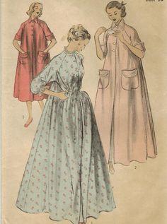 1950s Advance 5981 Vintage Sewing Pattern Misses Robe Peignoir Size 18 Bust  36 7da545b31