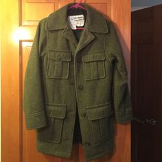 SPIEWAK army green coat Thick, warm, well-made and stylish! Sold at Urban Outfitters. Black lining with interior pockets. Small might fit a small medium. Urban Outfitters Jackets & Coats