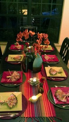 Table setting for a fiesta