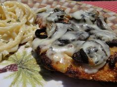 Chicken Breasts With Portabella Mushrooms from Food.com:   								Impressive dish with minimal effort involved.  Perfect for a dinner party or romantic dinner!