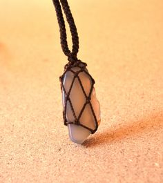 Grey Onyx Necklace/ Men's Necklace/ Men's Jewelry/ by SpiritYSol