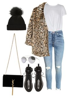 """""""Untitled #4592"""" by lilaclynn ❤ liked on Polyvore featuring Mykita, MINKPINK, MANGO, Yves Saint Laurent and Balenciaga"""