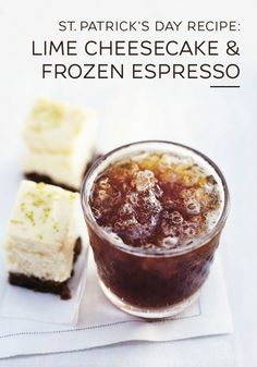 You can never have too much coffee in your life with this Lime Cheesecake and Frozen Espresso dessert pairing from Nespresso. Savor the dense texture of this rich cheesecake as the taste of creamy, sweet lime fills your mouth. A frozen espresso is the perfect complement to this indulgent Saint Patrick's Day treat.