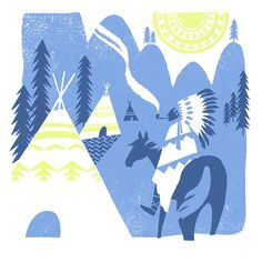 Lucy Davey ~ Way Out West screen print