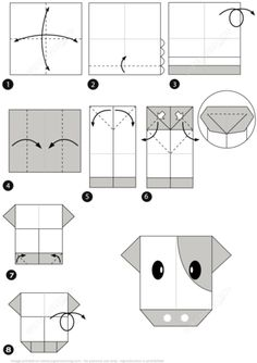How to Make an Origami Cow Instructions Paper craft