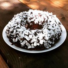 Made an #organic #einkorn #chocolatecake for my #babylove #organicchocolate #organiccake #organiccoconut #birthdaycake #homemade #happybirthday