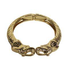 Gold Elephant Bangle
