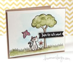 KRISTINA WERNER card   *   LAWN FAWN: Critters in the 'Burbs stamps   *   http://www.kwernerdesign.com/blog/?p=10717