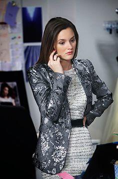 Gossip Girl Fashion: Blair Waldorf (Leighton Meester) wears an Alice + Olivia blazer and Milly dress.
