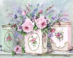 PRINT ON PAPER - Vintage Tin Trio - Postage included in the price World Wide