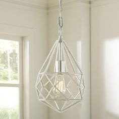 Features:  -Made of metal with crystal beading.  -Wipe with clean, damp cloth.  -Imported.  -Incandescent.  -1 Light.  -Decorative finish to accent and brighten room.  Product Type: -Mini chandelier.