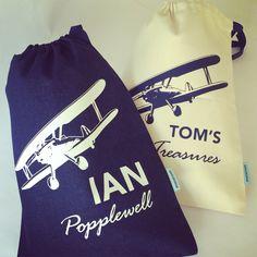 Personalized drawbags for boys... Www.macaroon.co.za
