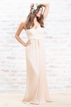 Fashion designer and bride to be Lauren Conrad just launched her own line of bridesmaid gowns. We are loving the neutral colors! #FashionFriday