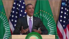 """AFRICA RISE!!!!!!!!!!!!   """"YOU WITH US OR AGAINST US""""  Obama Speaks To African Union- Full Speech"""