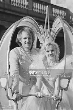 Peter Davison and his wife.