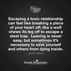 Escaping a toxic relationship