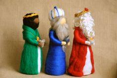 Natividad escena Waldorf inspiradora aguja fieltro por MagicWool