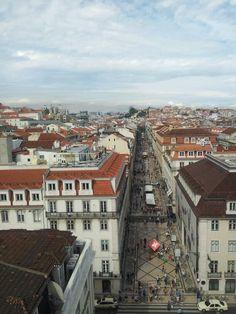 Rua Augusta from the top the Rua Augusta's Arch @ Lisbon