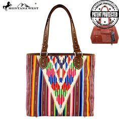 MW310G-8281 Montana West Serape Concealed Carry Handbag