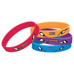 Ninja Turtles Rubber Bracelets (4 Pack) - Other Party Favors & other Party Supplies from Birthday in a Box