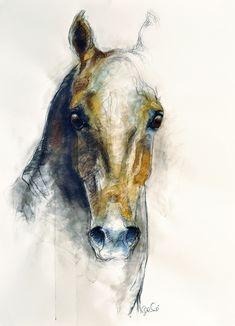 """Saatchi Online Artist: Benedicte Gele; Pastel, 2013, Drawing """"Alert IV"""""""