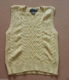 #POLO Ralph Lauren men size M vest sweater cashmere blend yellow NEW (no tags) RalphLauren visit our ebay store at  http://stores.ebay.com/esquirestore