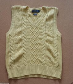 #men style POLO Ralph Lauren men sweater vest size M yellow cashmere blend NEW (no tags) RalphLauren withing our EBAY store at  http://stores.ebay.com/esquirestore