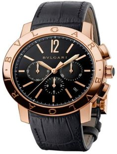 Bulgari Bulgari 18K Pink Gold Chronograph 41mm Mens Watch BBP41BGLDCH