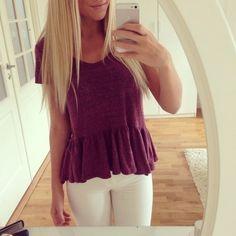 white jeans & cute shirt. <3