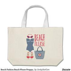 #Beach Fashion Beach Please #Preppy Set Grocery Tote Bag - June 25 - 5x