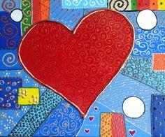 Acrílico Corazón amor Mixmedia