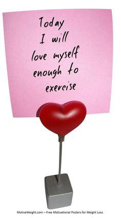 Hoy me amo lo suficiente como para hacer ejercicio. Amate a tí mismo cada día!/  Love yourself everyday!