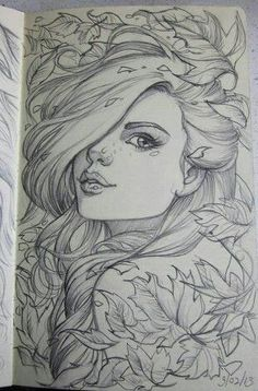 here is another drawing from my moleskine. I had fun with paeony flowers on this one. They are a complex flower to draw, but are worth the time. Anyway just another random picture for . Amazing Drawings, Beautiful Drawings, Cool Drawings, Drawing Sketches, Pencil Drawings, Amazing Art, Sketching, Pretty Drawings Of Girls, Pencil Art
