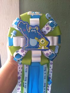 Monsters Inc baby shower corsage on Etsy, $25.00