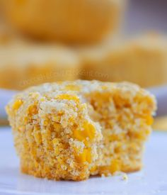 HEALTHY CORN MUFFINS - Bakery style corn muffins that turn out soft &  absolutely delicious! We could not stop eating them! Continue reading: http://chocolatecoveredkatie.com/2015/06/22/healthy-corn-muffins/