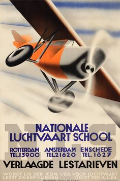 p. 30: Nationale Luchtvaart School, 1932. Kees van der Laan (1903-1983). 89.5 x 59.1cm. Kühn & Zoon, Rotterdam