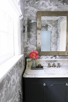 Dare to be dramatic and give your powder room a moody makeover. Here are 5 design tips to achieving high impact style and transformational results on a pint-sized budget.