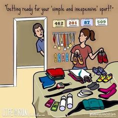 Baahahaa..Yup! Unfortunately this is so true. Spend way too much money on running gear
