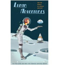 Steve Thomas' Retro Space Travel Posters on Zazzle. Fairly priced, too. I especially love the ones for Mars, Milky Way, Titan and the World's Fair. Vintage Space, Vintage Design, Illustrations, Illustration Art, Geeks, Science Fiction, Science Fun, Steve Thomas, Party Vintage
