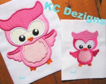 Spring Owl 01 Machine Applique Embroidery Design